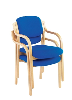 Woodframe Meeting / Conference Armchair - Stacking