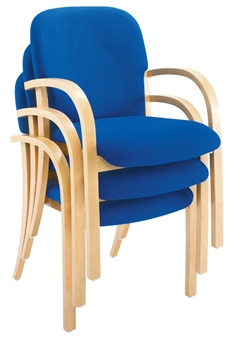 Deluxe Woodframe Armchairs Stacking