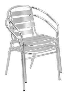 Aluminium Cafe / Recreational Armchair Stacked