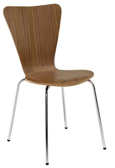 Walnut Wooden Cafe / Bistro Chair