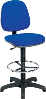 Fabric Draughting Chair With Fixed Footring
