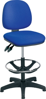 Fabric Draughting Chair With Adjustable Footring