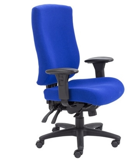 Endurance Square-Back Task Chair - Marine Fabric