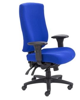 Endurance Square-Back Task Chair - Marine Fabric