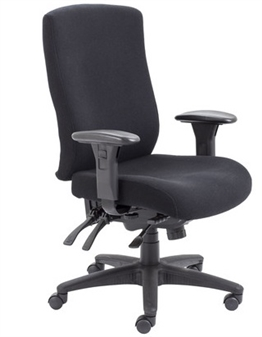 Endurance Square-Back Task Chair - Fabric + Chrome Frame