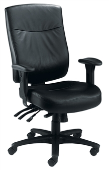Endurance Square-Back Task Chair - Leather