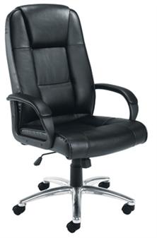Value Leather Executive Chair 2 + Chrome Base
