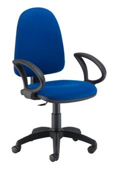 Value High-Back Operator Chair -With Feet/Glides (Shown With Adjustable Arms)