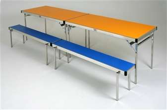 Heavy-Duty Lightweight Rectangular Stacking Benches