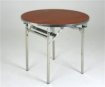 Heavy-Duty Lightweight Circular Folding Table - 1200 Dia - Cherry