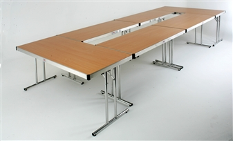 Tables Pushed Together In Conference Design