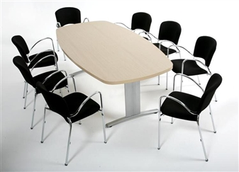 Lozenge Shape Folding Meeting Table With Chairs