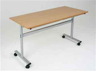 Flip Top Table Fitted With Castors