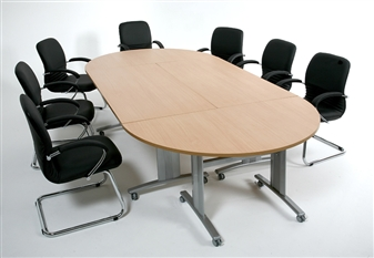 Elite Range Rectangular & Semi-Circular Flip Top Tables On Wheels