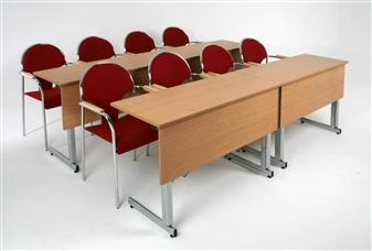 Rectangular Folding Training Tables With Modesty Panels