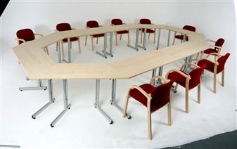 Rectangular & Trapezoidal Folding Training Tables