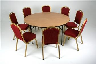 Folding 1500Dia Circular General Purpose Table + Chairs