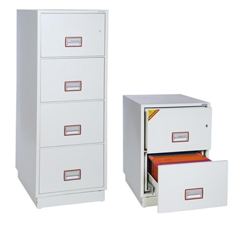 2 & 4-Drawer Fireproof Filing Cabinet