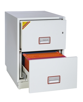 2-Drawer Fireproof Filing Cabinet