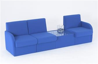 BRS/A Modular Box Reception Sofa Seat - With Arms