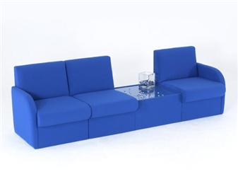 Modular Box Reception Seating With Glass Top Coffee Table