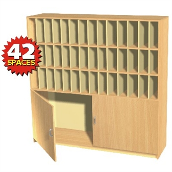 42 Space Pigeon Hole / Post Cupboard Storage Unit