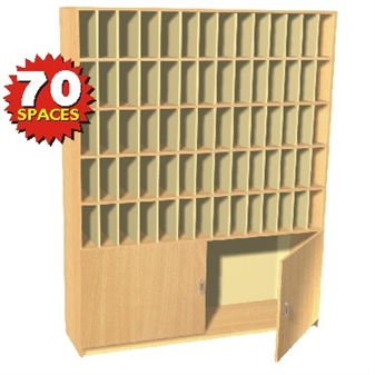 70 Space Pigeon Hole / Post Cupboard Storage Unit