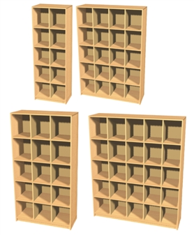 Double Height Pigeon Hole Sorting Units