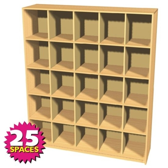 25 Space Double Height Pigeon Hole Sorting Unit