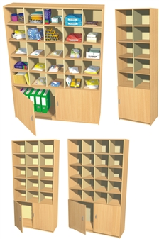 Double Height Pigeon Hole / Cupboard Units