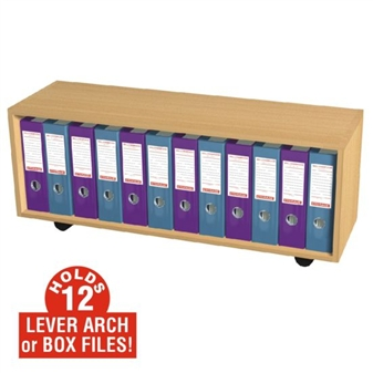 12 Box File Open Storage Cupboard (Mobile)