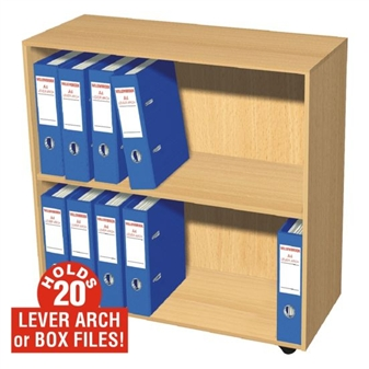 20 Box File Open Storage Cupboard (Mobile)