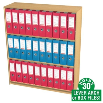 30 Box File Open Storage Cupboard (Static)