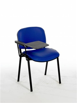 F1BT Stacking Chair With Black Frame - One Arm & Writing Tablet