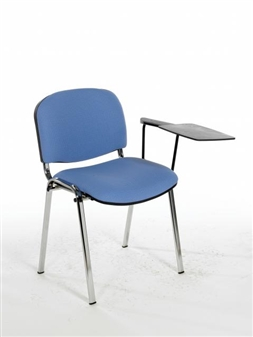 F1CT Stacking Chair With Chrome Frame - One Arm & Writing Tablet