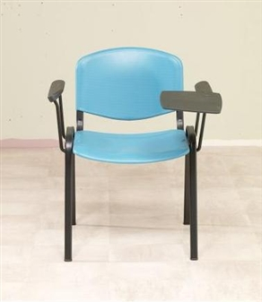 F1AT Plastic Writing Tablet Chair - Two Arms - Green