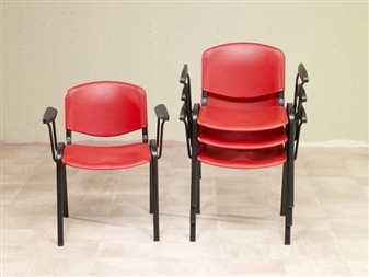 Flipper Plastic Stacking Chairs With Arms