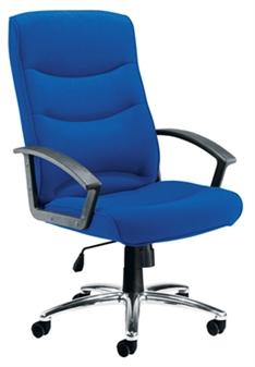 Value Executive Fabric Chair 1 + Chrome Frame