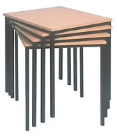 600 x 600 Square Spiral Stacking Classroom Table