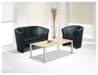 Leather-Look Tub Chairs