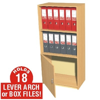 18 Box File Cupboard / Bookcase Storage Unit