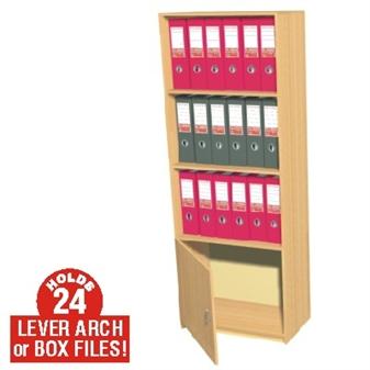 24 Box File Cupboard / Bookcase Storage Unit