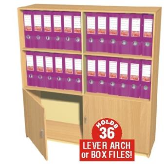36 Box File Cupboard / Bookcase Storage Unit