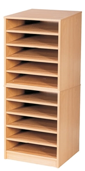 10 Bay A2 Paper Storage Unit