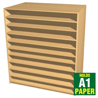 10 Bay A1 Paper Storage Unit