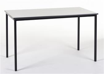 1200 x 600 Rectangular Spiral Stacking Classroom Table PVC Edge