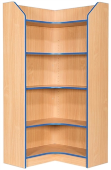 6ft Corner Bookcase