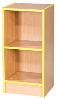 2.5ft Slimline Flat Top Bookcase