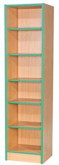 6ft Slimline Flat Top Bookcase