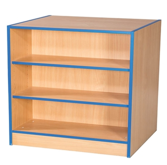 3ft Double Sided Flat Top Bookcase